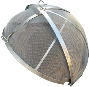 Round Hinged Screen - Open